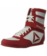 Reebok Men's Boot Boxing Shoe 11.5 White/Excellent Red - $107.89