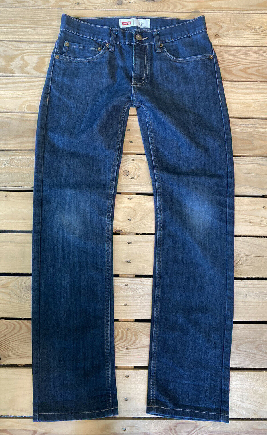 Primary image for Levi's Girls 511 Slim Fit Jeans Size 16 (28x28) In a Dark Wash EUC A7