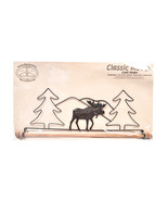 Classic Motifs Moose 16 Inch Fabric Holder With Dowel - $33.97