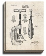 Pipe Cutting Tool Patent Print Old Look on Canvas - $39.95+