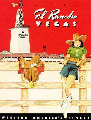 Primary image for Hotel El Rancho - 1942 - Las Vegas NV - Promotional Advertising Poster