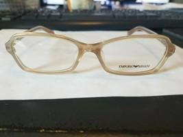 EMPORIO ARMANI EA 3009F 5084 Eyeglasses Frames Glasses Beige 54-16-140 A... - $38.61