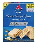 Atkins Protein Wafer Crisps, Lemon Vanilla, 5 Count - $14.60