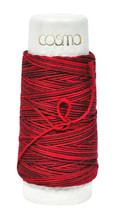 Cosmo Hidamari Sashiko Variegated Thread 30 Meters Cranberry Red - $5.95