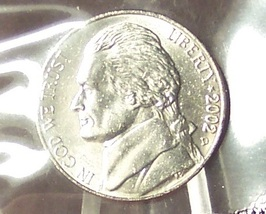 2002-D Jefferson Nickel BU In the Cello With FULL STEPS #0900 - $5.49