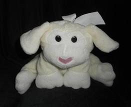 "12"" 2007 Animal Adventure Baby Creme Floppy Lamb Stuffed Animal Plush Toy W/ Bow - $45.82"