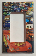 Cars Lightning McQueen Light Switch Power Outlet wall Cover Plate Home Decor image 3