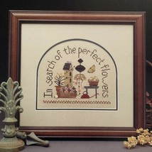 Heart in Hand GARDEN PARTY Cross Stitch Pattern In Search of the Perfect Flowers - $3.96