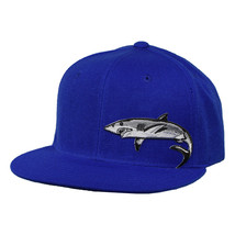 Great White Shark Hat by LET'S BE IRIE - Royal Blue Snapback - £16.59 GBP