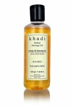 Khadi Orange Lemongrass Massage Oil- without Mineral Oil - 210ml - $9.04