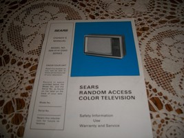 Sears Color Television Owner's Manual Model No. 564,41412550 - $3.00