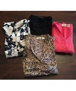 Lot of 4 Women's Long sleeve SHIRTS size Small Cato & Jonden Casual Dres... - $18.70