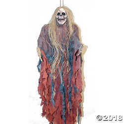Tattered Ghoul with Hair Halloween Décor