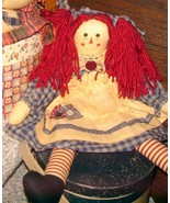 VTG COUNTRY FOLK ARTS & CRAFTS HANDMADE RAGGEDY ANN GIRLFRIENDS RAG DOLL... - $127.99