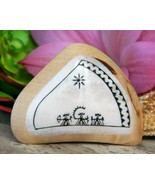 Nordic Shamanic Saami Drum Figures Gods Brooch Pin Wood Antler Inlay - $97.95