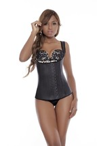Ann Michell Full Vest Latex Waist Cincher (32, Black) - $40.67
