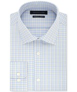 Tommy Hilfiger Sunlight Men's Fitted Stretch Yellow & Blue Check Dress S... - $21.95