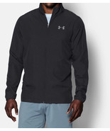NEW MENS UNDER ARMOUR UA VITAL WARM UP LIGHTWEIGHT RIPSTOP BLACK JACKET S - $41.57