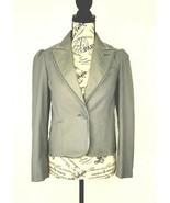 Marc Jacobs Sage Green Striped Lapel w/ Velvet Trim Women's Blazer Sz 2 - £26.17 GBP