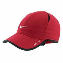 NEW! Nike Adult Unisex Tennis/Runner Featherlight DRI-FIT Hat-Team Red - $296.88
