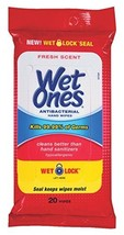 Wet Ones Anti-Bacterial Hand Wipes, 20 Each Value Pack of 10