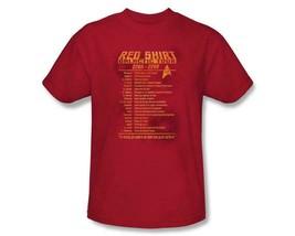 Star Trek The Original Series Security Red Shirt Galactic Tour T-Shirt 3... - $19.34