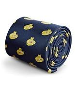Frederick Thomas Navy Blue tie with Yellow Submarine Design - $21.98