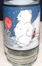 1997 Coca Cola Polar Bear Cubs And Snow Seal 12 Ounce Glass Tumbler - $4.94