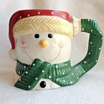 Snowman Mug Yankee Candle 16 fl oz Coffee Cup Ceramic Christmas Scarf Te... - $11.99