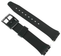 17mm Rubber PVC Black Replacement Watch Band for Swatch - FREE Spring Bars - $9.95
