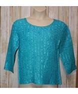 Womens Pretty Blue Magic Woman 3/4 Sleeve Stretch Shirt Size XL to 2X ex... - $7.91