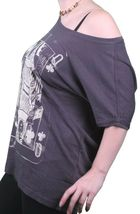 Bench UK Womens Navy Queeny Clover Playing Card Scoop Neck T-Shirt BLGA2363 NWT image 4