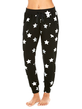 Terez Women Silver Star Foil French Terry Jogger image 1