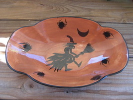 Laurie Gates~Halloween~Bowl~Candy Dish~Flying Witch - $31.92