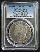 1900O PCGS Fine Detail VAM 29A Die Break Morgan Silver Dollar Coin Lot SR 1233