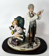 "11"" Vintage Italian Capodimonte Bellini Porcelain Doctor With Girl Syringe - $1,710.00"