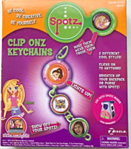 Spotz Maker Clip Onz Keychains Kit Light Up Clip On Craft Set [Brand New] - $25.78