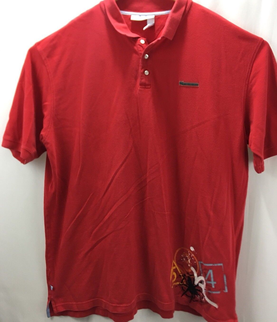 0754f40d Rocawear Mens 3XL Short Sleeve Polo W Spider Design EUC - $15.27