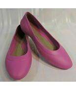 Women's CROCS size 8 PINK slip-on shoes Ballerina flats Worn ONE time PE... - $25.65