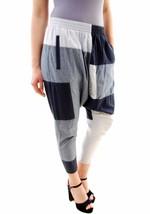 One Teaspoon Women's Denim Color Block Harem Pants Blue Size 26 RRP$149 ... - $101.96