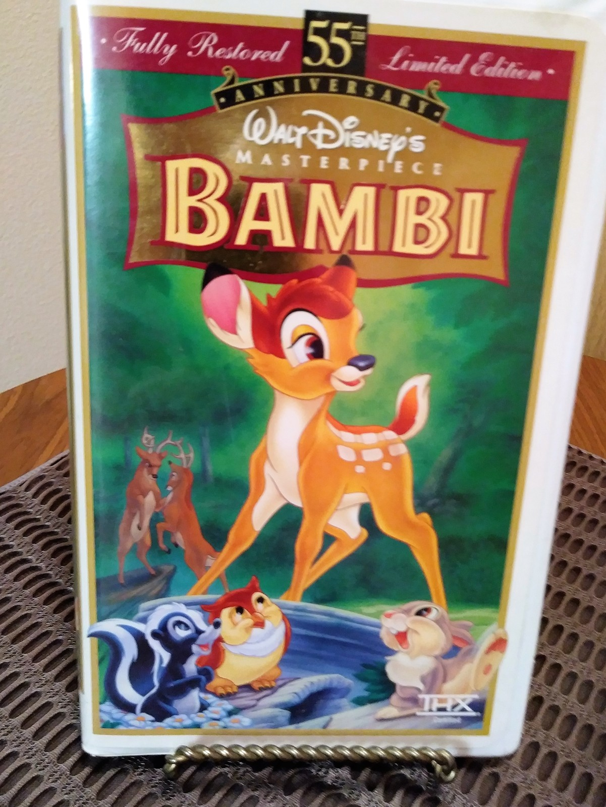 Walt Disney Masterpiece Bambi 55th Anniversary Limited Edition Fully Restored VH