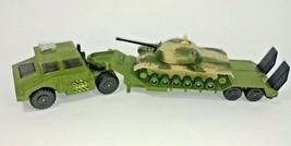 Matchbox Battle Kings Diecast Tank Transporter K106 1974 Lesney & Tank M... - $34.60
