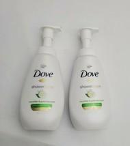2 New Dove Shower Foam Body Wash Cucumber & Green Tea Scent 13.5 FL OZ ... - $21.77