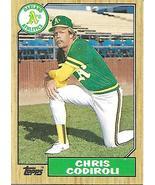 Baseball Card- Chris Codiroli 1987 Topps #217 - $1.28