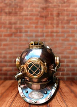 "Hindon collectibles Scuba Diving Divers Helmet US Navy Mark V Vintage 8"" - $378.27"