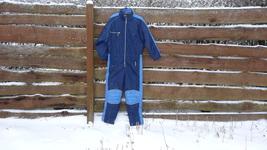 One piece ski suit Vintage 80's Blue zipper skiing suit XXL - $55.00