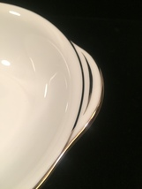 4 Noritake Colony pattern 5932 Lugged cereal bowls - Vintage 50s with platinum  image 4