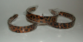 """Headbands Set of 3 New Leopard Print Brown 1"""" Wide Hold Hair Back - $14.54"""