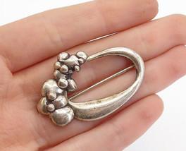 925 Sterling Silver - Vintage Modernist Sculpted Design Brooch Pin - BP5842 - $37.47