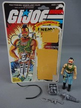 Vintage GI JOE Action Figure 1985 Ripper Dreadnok 100% w Full Cardback - $17.72
